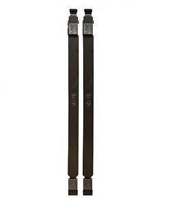Par de Longarinas 380mm Reta Slim Stay Preto