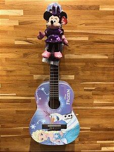 Violão Acústico PHX VIF-1 Disney Frozen Elsa Olaf Nylon Com Capa