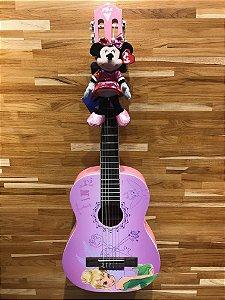 Violão Acústico PHX VJT-3 Disney Tinkerbell Key Nylon com Capa