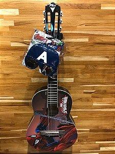 Violão Acústico PHX VIM-S1 Marvel Spider Nylon com Capa