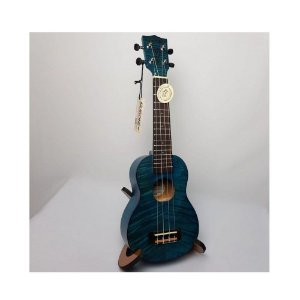 Ukulele Akahai KFB-26 Tenor Flamed Blue com Bag