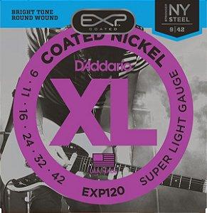 Encordoamento D'addario EXP120 6 Cordas .09/.42. para Guitarra
