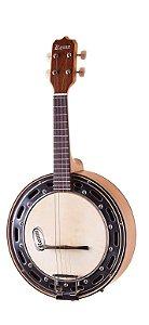 Banjo Eletro-Acústico Rozini RJ14ELF Estudante Caixa Larga Natural Fosco