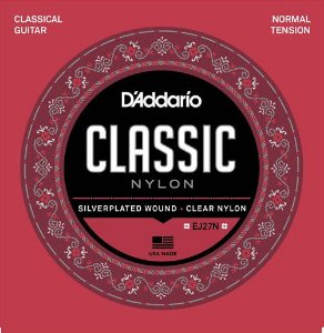 Encordoamento para Violão D'addario EJ27N Classic nylon Normal Tension 0280-043