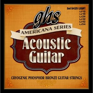 Encordoamento GHS S425 Americana Series Phosphor Bronze .012 /.054 para Violão