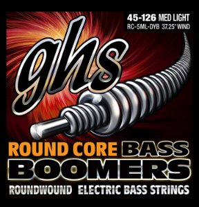 Encordoamento GHS RC-5ML-DYB Boomers Round Core Bass .045 /.126 para Contrabaixo