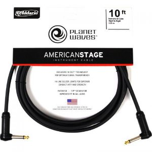 Cabo para Instrumentos D'addario Planet Waves PW-AMSGRR-10 American Stage 3.05m
