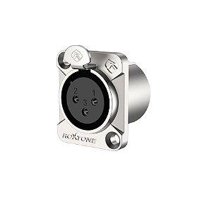 Conector Roxtone RX3FD-NT Premium XLR Painel Fêmea
