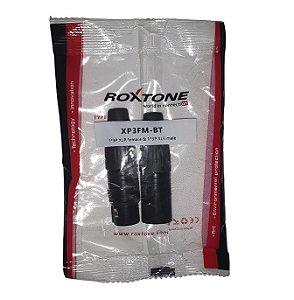Conector Roxtone XP3FM-BT Combo 2 Conectores 1 Macho E 1 Fêmea