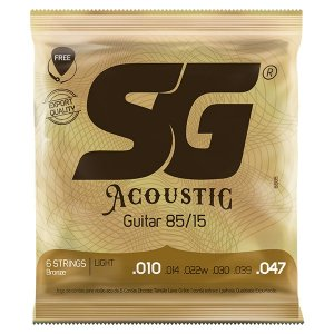 Encordoamento SG Strings Acoustic 85/15 .010/.047 para Violão