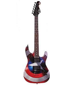 Guitarra PHX GMC-1 Marvel Série Capitão América