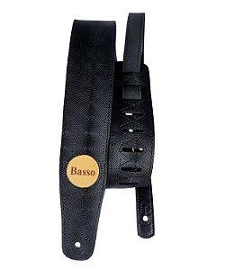Correia de Couro Basso SB09 Vintage Preto para Instrumentos de Corda