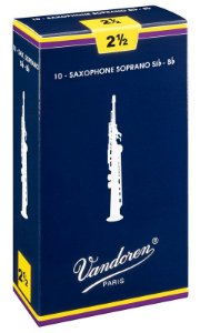Palheta Vandoren Tradicional Nº 2,5 para Sax Soprano