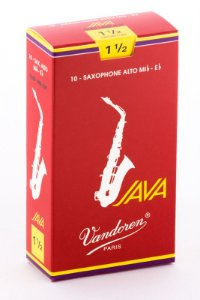 Palheta Vandoren Java Red Cut Nº 1,5 para Sax Alto