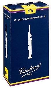 Palheta Vandoren Tradicional Nº 1,5 para Sax Soprano