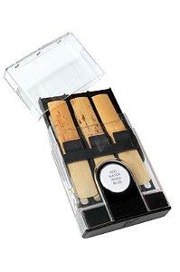 Estojo de Palhetas Higrométrico Vandoren HRC10 6 Espaços para Sax e Clarinete