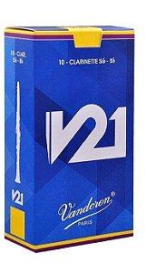 Palheta Vandoren V21 Nº 2,5 para Clarinete Sib