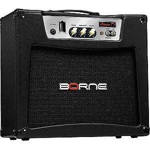 Caixa Amplificada Borne Valvulado Clássico T7 1x12'' 7w RMS para Guitarra Preto