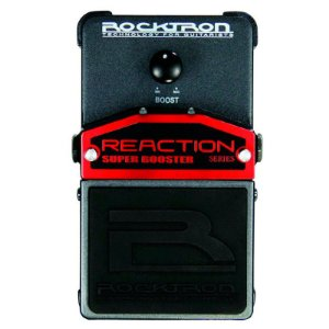 Pedal de Efeitos Rocktron Reaction Super Booster para Guitarra