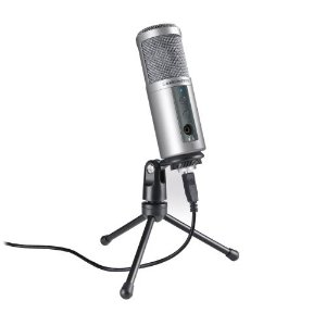 Microfone Audio-Technica ATR2500-USB Condensador Cardióide