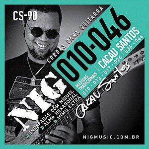 Encordoamento Nig Signature Cacau Santos CS-90 .010/.046 para Guitarra