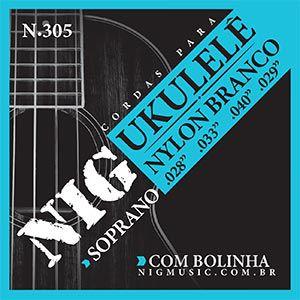 Encordoamento Nig N-305 .028/. 040 para Ukulele Soprano