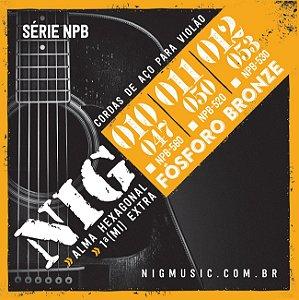 Encordoamento Nig Série NPB560 .010''/.047'' Fósforo Bronze para Violão