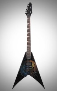 Guitarra Dean Guitars Flying V VMNT Dave Mustaine Max Wheel