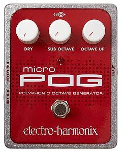 Pedal de Efeitos Electro-Harmonix Micro Pog Polyphonic Octave Generator
