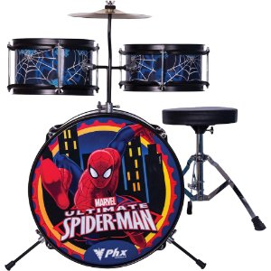Bateria Infantil PHX BIM-S1 Marvel Série Homem-Aranha Azul
