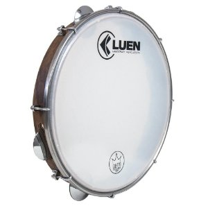 "Pandeiro Luen Percussion 12"" Guetto Cromadas Pele Master Sparkle"