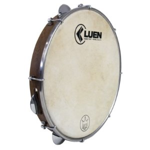 "Pandeiro Luen Percussion 10"" Guetto Cromadas Pele Animal"