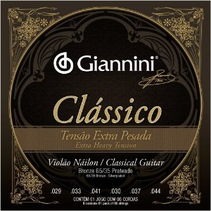 Encordoamento Giannini GENWXPA .029/.044 Bronze 65/35 para Violão