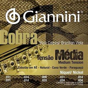 Encordoamento Giannini GESVNM .011/.034 Tensão Média Cobra para Viola