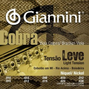 Encordoamento Giannini GESVNL .010/.030 Tensão Leve Cobra para Viola