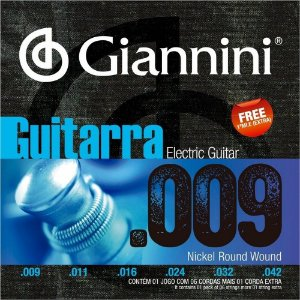 Encordoamento Giannini GEEGST09 .009/.042 para Guitarra