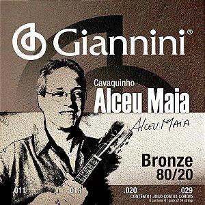 Encordoamento Giannini SSCVAM .011/.029 Alceu Maia para Cavaquinho