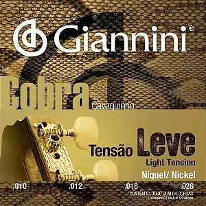 Encordoamento Giannini GESCL .010/.026 Tensão Leve Cobra para Cavaquinho