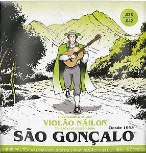 Encordoamento São Gonçalo .028/.042 Nylon Tensão Leve para Violão