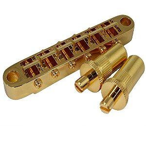 Ponte Fixa Tune-o-Matic Gotoh GE103-BT Dourado