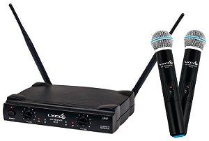 Microfone sem Fio Lyco UH02 MM Duplo