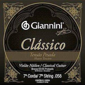 Encordoamento Avulso Giannini Genwpa-7 .058 Pesada P/ Violão