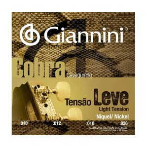 Encordoamento Giannini GESCL 010/026 Leve Cobra Para Cavaco