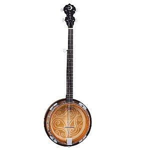Banjo Luna Guitars BGB Celtic 5 Cordas Tobacco Sunburts