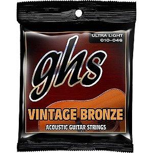 Encordoamento GHS VN-UL Vintage Bronze 010 /046 para Violão