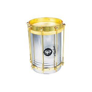 Cuíca Reta Timbra 08x30cm Aro Dourado com Pele Animal