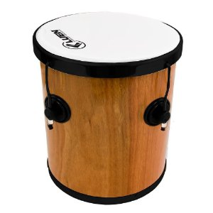 """Repique De Mão Luen Percussion 30x10"""" Pop Preto Verniz"""