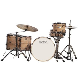 Bateria Acústica Legend One Series Walnut Ferragens Cromadas