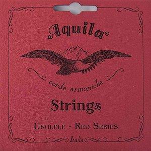Encordoamento Aquila 84U Red Series Low G Ukulele Soprano