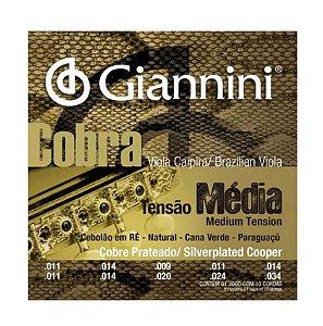 Encordoamento Giannini GESVM 011/034 Média Cobra para Viola